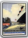 Paris. Havre. New York. Vintage Travel/Tourism Canvas. Sizes: A4/A3/A2/A1 (002748)